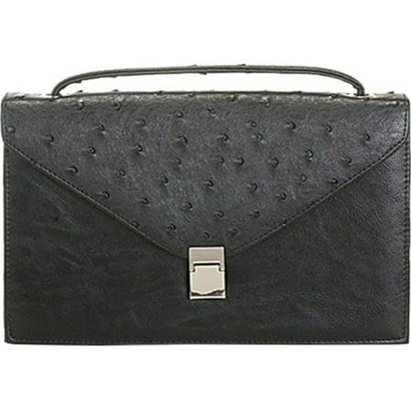 7baac10156b6 Aryana Rina6-Bk Chic Black Ostrich Texture Structured Single Strap Womens  Handbag