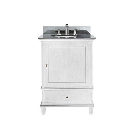 Selby 24-Inch White Vanity with Black Granite top and Undermount Sink