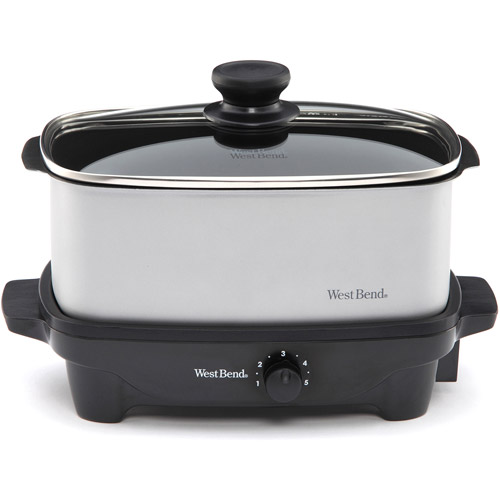West Bend 5-Quart Slow Cooker, Gray