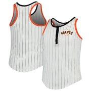 San Francisco Giants New Era Girls Youth Pinstripe Jersey Racerback Tank Top - White/Black