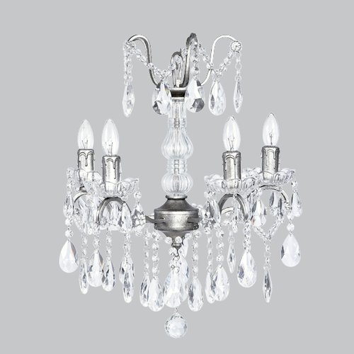 Jubilee Collection Glass Center 4-Light Crystal Chandelier
