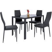 Best Choice Products 5 Piece Kitchen Dining Table Set W Gl Tabletop 4