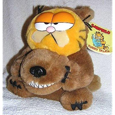 Vintage Garfield The Cat Furry Tales 8 Plush Big Bad Wolf Doll