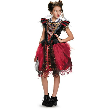 Red Queen Tween Halloween Costume - Queen Of Hearts Makeup For Halloween