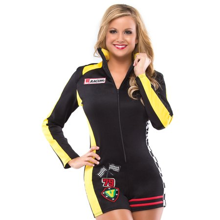 Coquette Sexy Womens Racing Race Car Driver Halloween Costume S/M