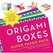 Origami Super Paper Pack: Origami Boxes Super Paper Pack: Folding Instructions and Paper for Hundreds of Mini Containers (Paperback)