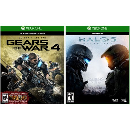 Xbox One Gears of War 4: Ultimate Steelbook & Halo 5: Guardians