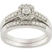 1/2 CT. T.W. Diamond 10kt. White Gold Bridal Set