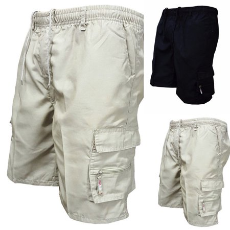5d29e41dc64d Urkutoba - Mens Summer Elasticated Plain Shorts Cotton Lightweight Cargo  Combat Pants M-3XL - Walmart.com