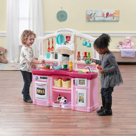 Step2 Fun with Friends Play Kitchen with 24 Piece Accessory Set - Pink