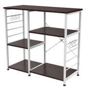 3 Tier Kitchen Standing Bakers Shelf Rack Microwave Cart Stand Kitchen Utility Storage