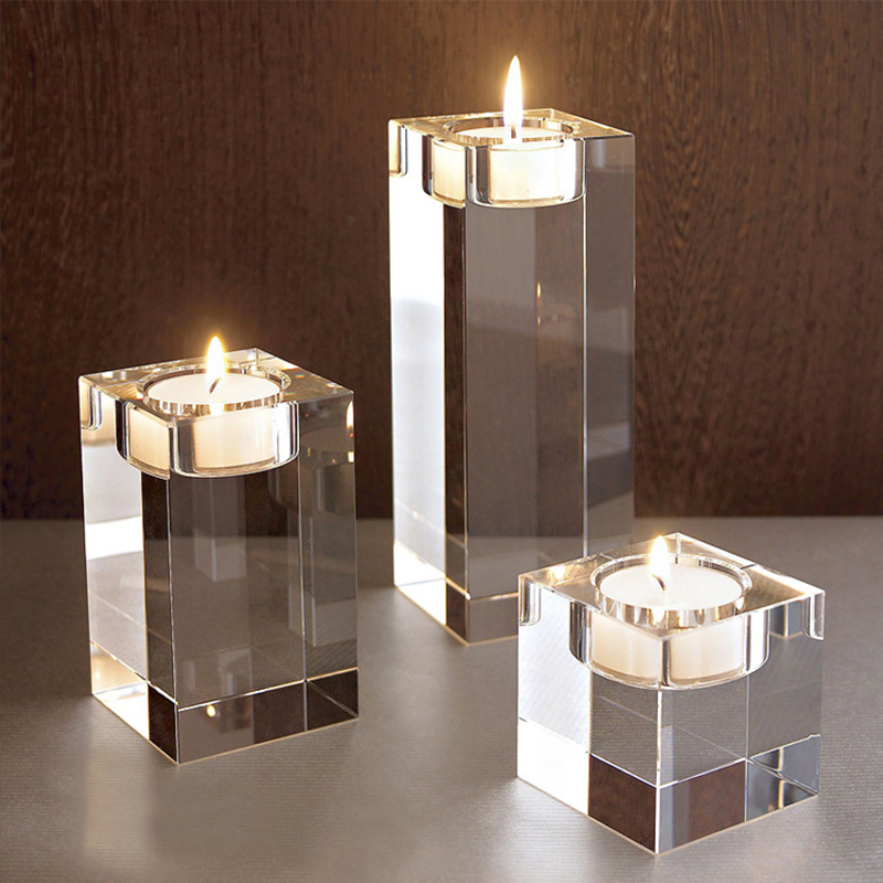 7 SIZES Modern Elegant Crystal Candle Holders Tealight Stand Wedding Table Decor  Christmas Decoration Christmas decor Gift Valentine's Day Decoration