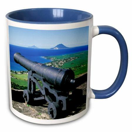 3dRose Caribbean, St. Kitts. Brimstone Hill Fortress NP-CA32 PSK0010 - Peter Skinner - Two Tone Blue Mug, 11-ounce