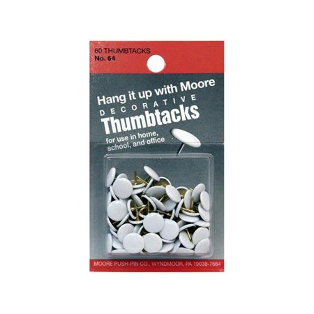 Decorative Wall Tacks (Moore Thumb Tack Decorative White)