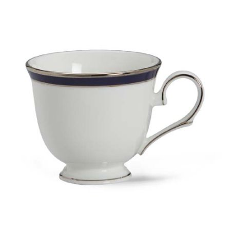 Federal Cobalt Platinum Bone China Cup, Crafted of Lenox fine bone china By Lenox Cobalt Net Bone China