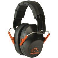 Walkers GWPFPM1BKO Pro Low Profile Folding Muff Earmuff 22 dB Black/Orange