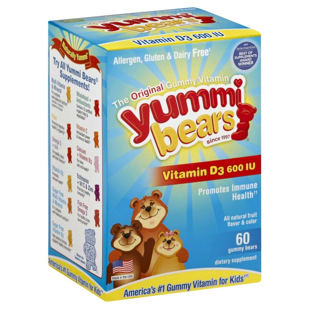 Yummy Bears Gummy vitamin With Vitamin-D3 - 60 Gummies