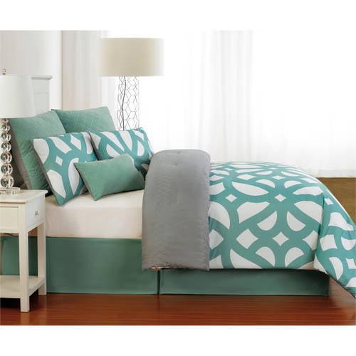 Uxbridge Online Quilted Oversize & Overfilled 7 Piece King Comforter Set in Indigo-Grey