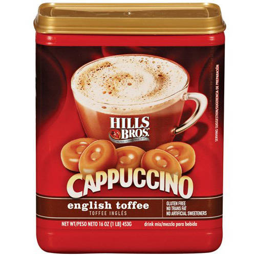 Hills Bros: English Toffee Cappuccino Drink Mix, 16 oz