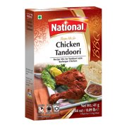 National Foods Chicken Tandoori Recipe Mix 1.44 oz (41g)   South Asian BBQ Masala Powder   Traditional Spicy Food   Box Pack