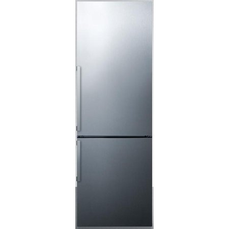 FFBF247SSIM 24 Energy Star Bottom Freezer Refrigerator W/ 11 cu. ft. Capacity Factory Installed Ice Maker Adjustable Glass Shelves a Wine Shelf LED Lighting and Open Door Alarm in Stainless Steel