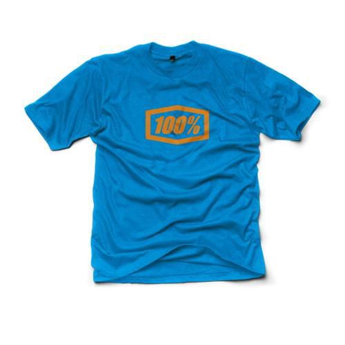 100% Essential Mens Premium T-Shirt Blue