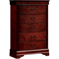 Furniture Of America Adelina 5 drawer Chest Cherry