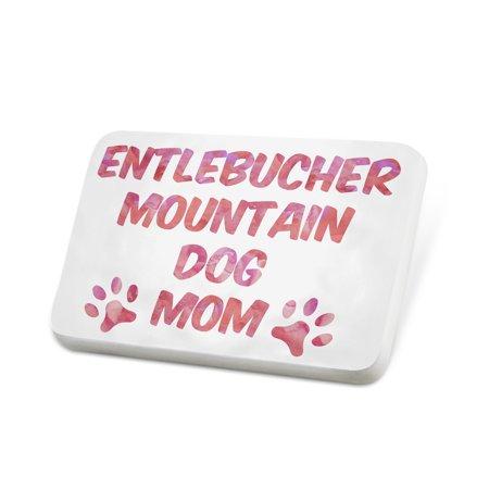 Porcelein Pin Dog & Cat Mom English Cocker Spaniel Lapel Badge –