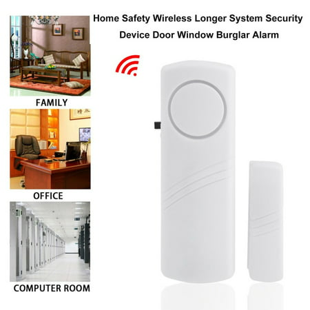 Door Window Wireless Burglar Alarm with Magnetic Sensor Home Safety Wireless Longer System Security