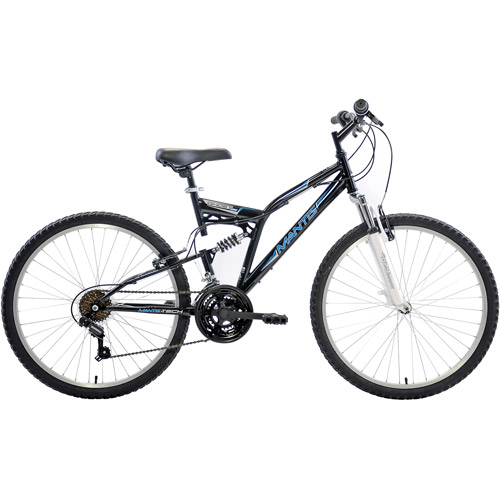 Mantis Unisex Ghost 26 Full Suspension MTB Bicycle, Black by Cycle Force Group