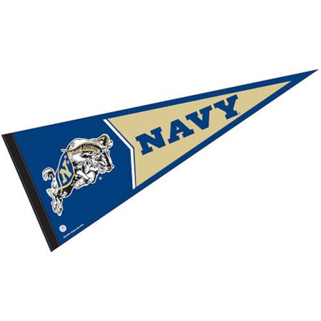 "US Navy Midshipmen 12"" X 30"" Felt College Pennant"