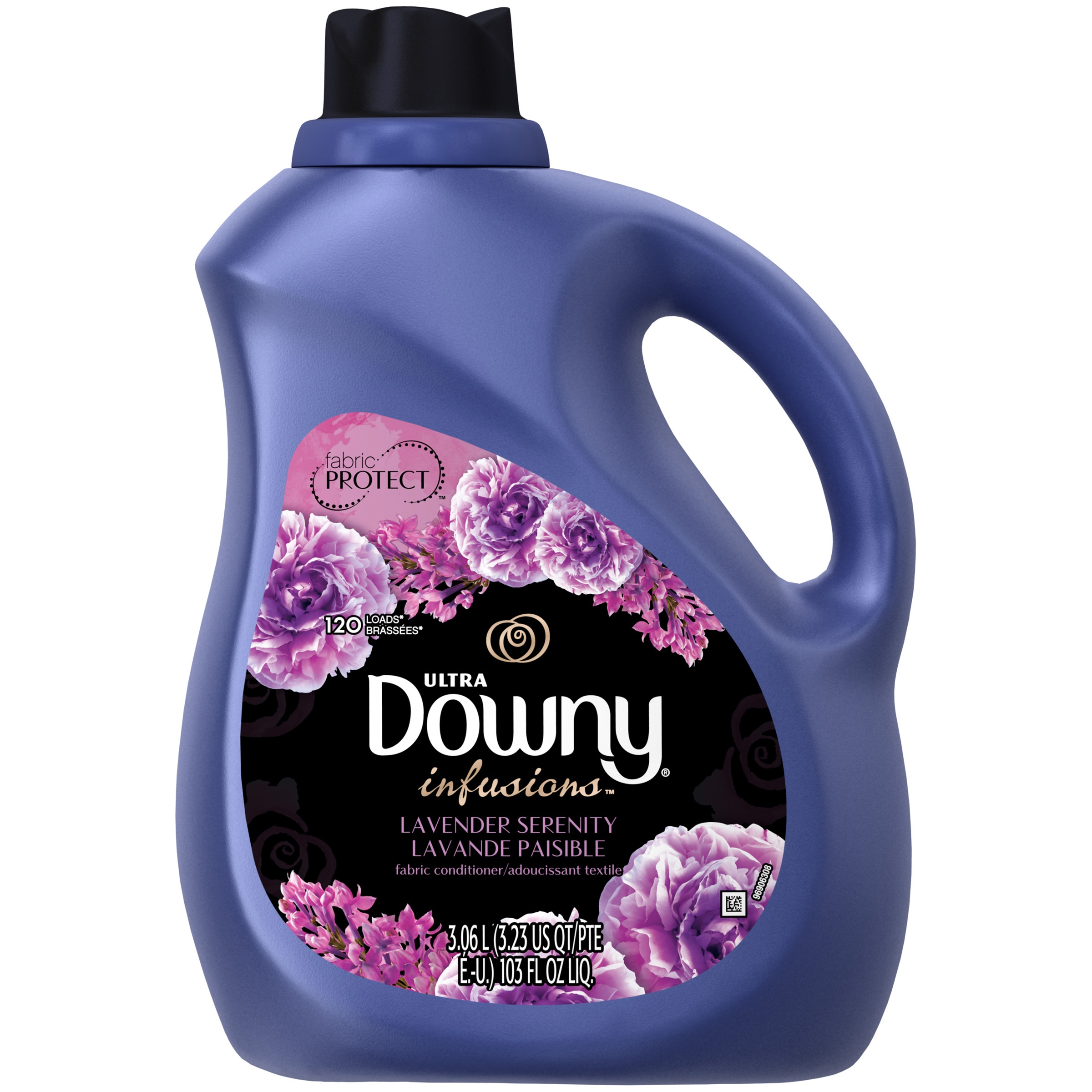 Downy Infusions Lavender Serenity Liquid Fabric Conditioner (Fabric Softener), 120 Loads 103 fl oz