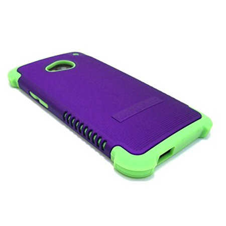 Cell-Nerds NerdShield GRIP Case Cover for The HTC ONE M7 (2013) - Cell-Nerds Packaging (Purple on Lime)