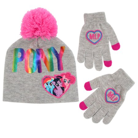 Hasbro My Little Pony Hat and Gloves Cold Weather Set, Little Girls, Age - Girls Long Gloves