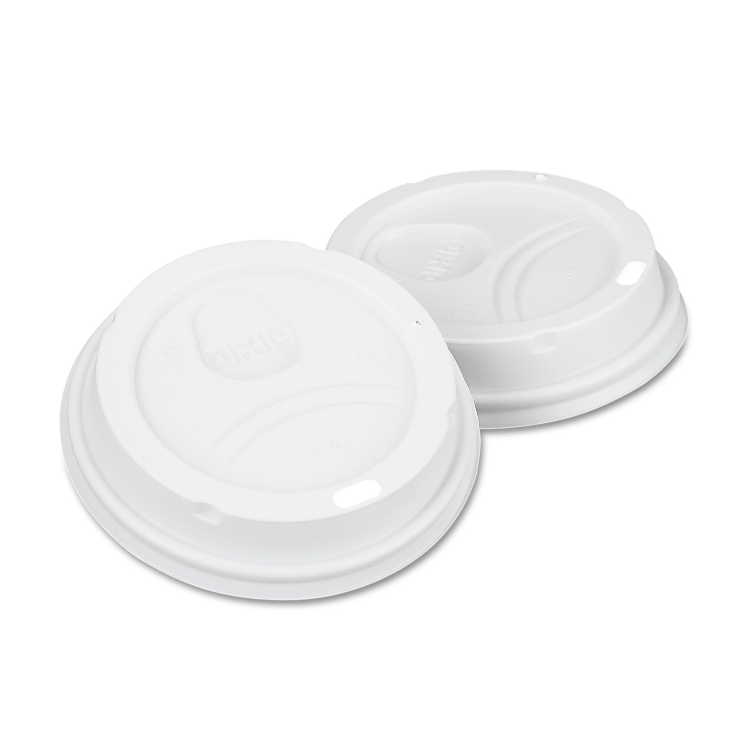 Dixie White Dome Lid Fits 10-16oz Perfectouch Cups, 12-20oz Hot Cups, WiseSize, 500/CT