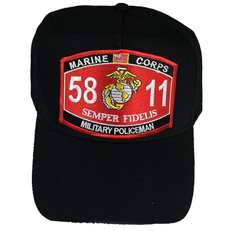Marine Corps 5811 Military Policeman MP MOS Patch HAT - BLACK - Veteran Owned Business