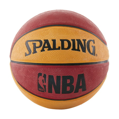 "Spalding NBA Mini 22"" Basketball - Red/Orange"
