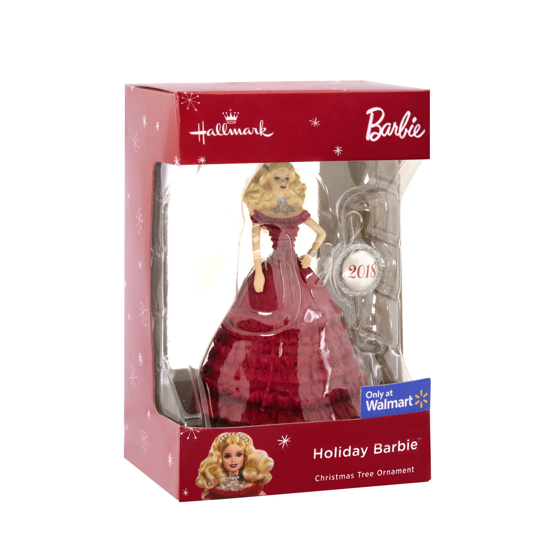Barbie Christmas Ornament.Hallmark Mattel Holiday Barbie 2018 Christmas Ornament