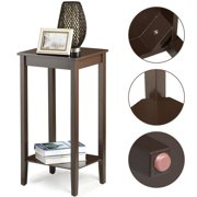 Yaheetech Wood Coffee Table Tall Bedside Nightstand Bedroom Living Room Sofa Side End Furnture