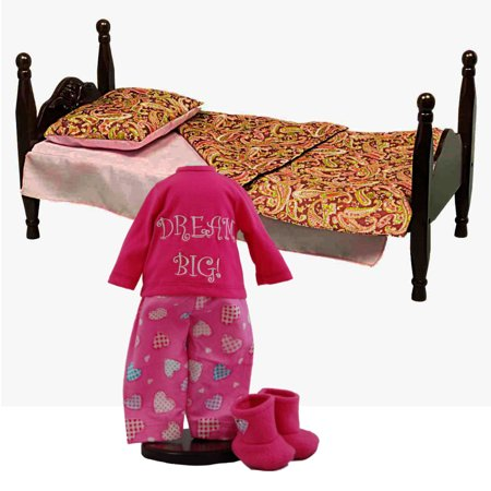 Miraculous American Style Single Stackable Doll Bed Bedding Fits 18 Inch Doll Furniture With Dream Big Pajamas Fits 18 Dolls Home Interior And Landscaping Ologienasavecom