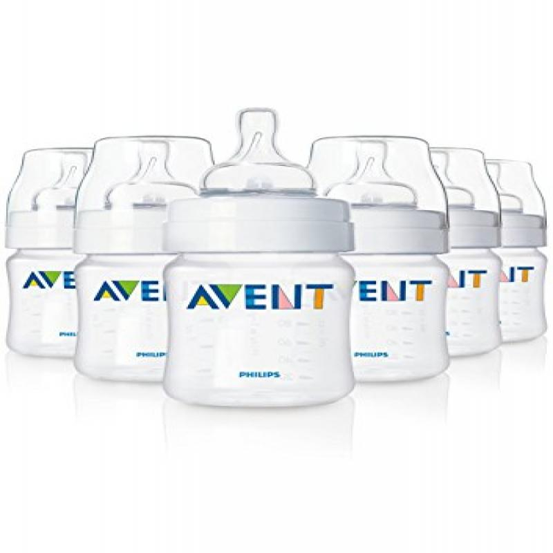 Philips AVENT 4 Oz. BPA Free Bottles 6 Pack by Philips AVENT