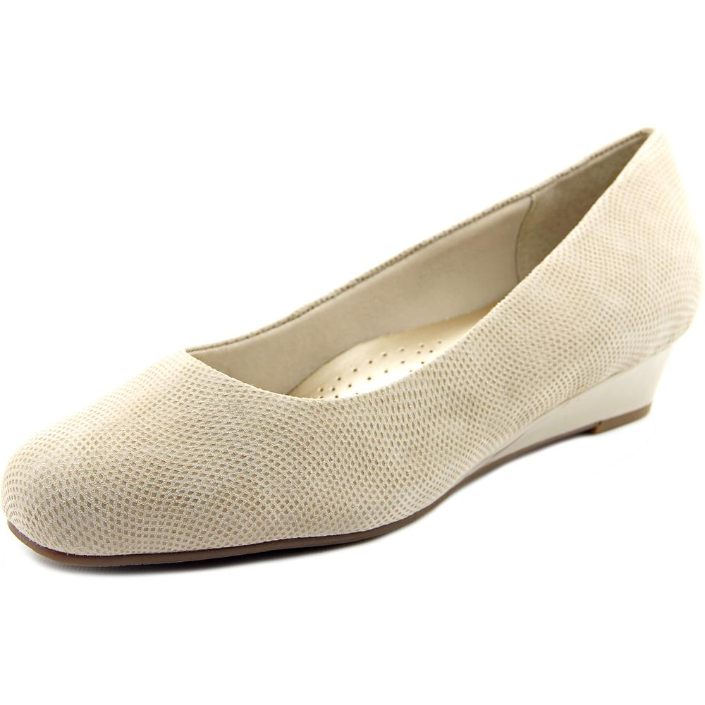 Trotters Lauren N S Open Toe Leather Wedge Heel by Trotters
