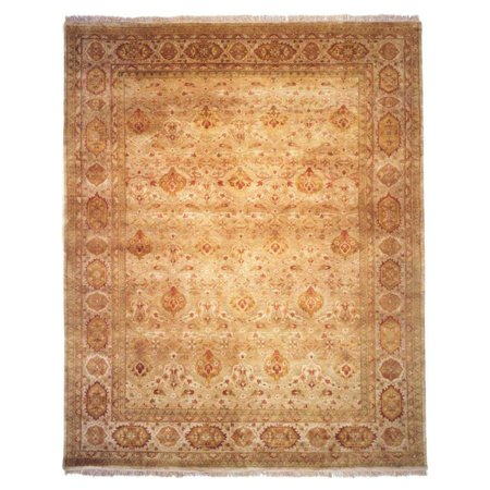 Agra Ivory Green - K2 Floor Style Agra Ivory/Ivory Hand Made Wool Area Rug