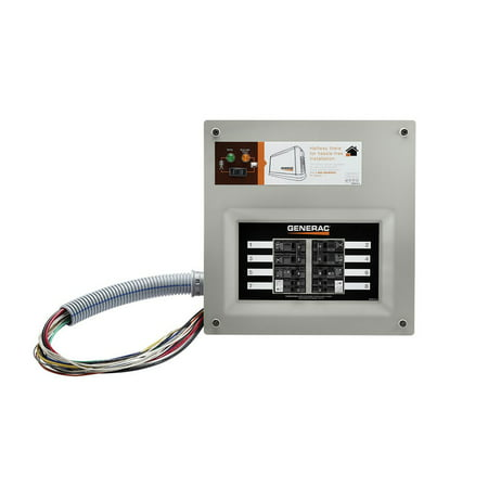 Generac 9854 HomeLink 50-Amp Indoor Pre-wired Upgradeable Manual Transfer Switch for 10-16 Circuits Amp Generator Indoor Transfer Switch