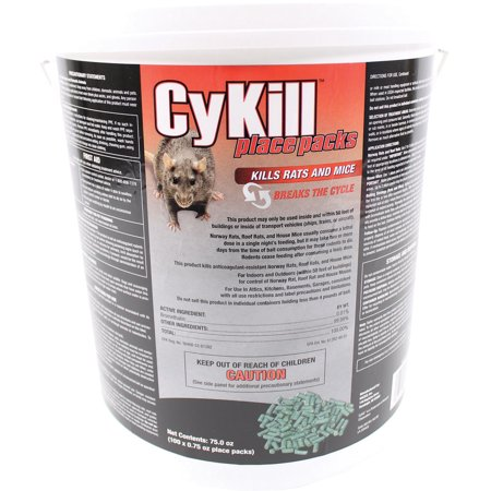 Neogen Rodenticide D-Cykill Place Packs 100 X .75 Ounce