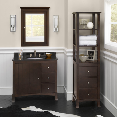 Ronbow Hampton 36'' Single Bathroom Vanity Set with Mirror