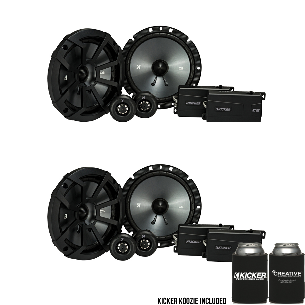 Kicker 43CSS674  6.75-Inch (165mm) Component System with .75-inch (20mm) tweeters, 4-Ohm