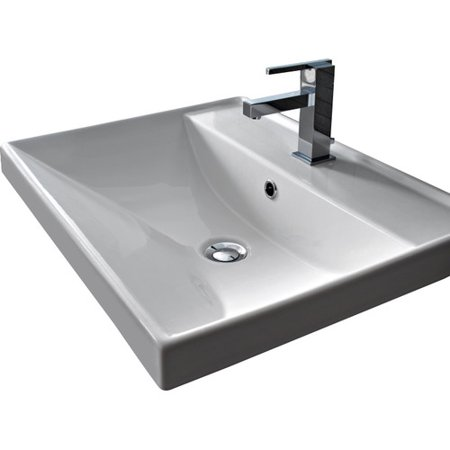 Scarabeo By Nameeks Ml Ceramic Rectangular Drop In Bathroom Sink With Overflow