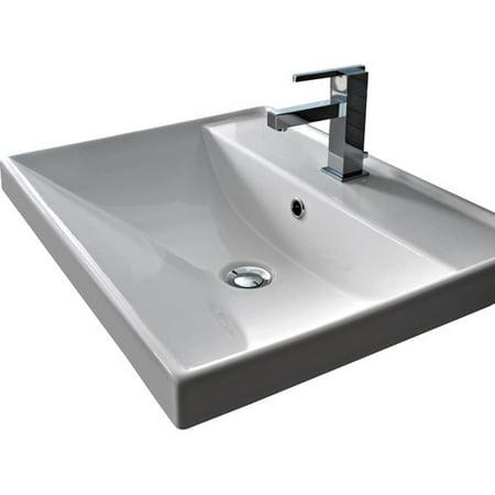 Scarabeo By Nameeks Ml Ceramic Rectangular Drop In Bathroom Sink With Overflow