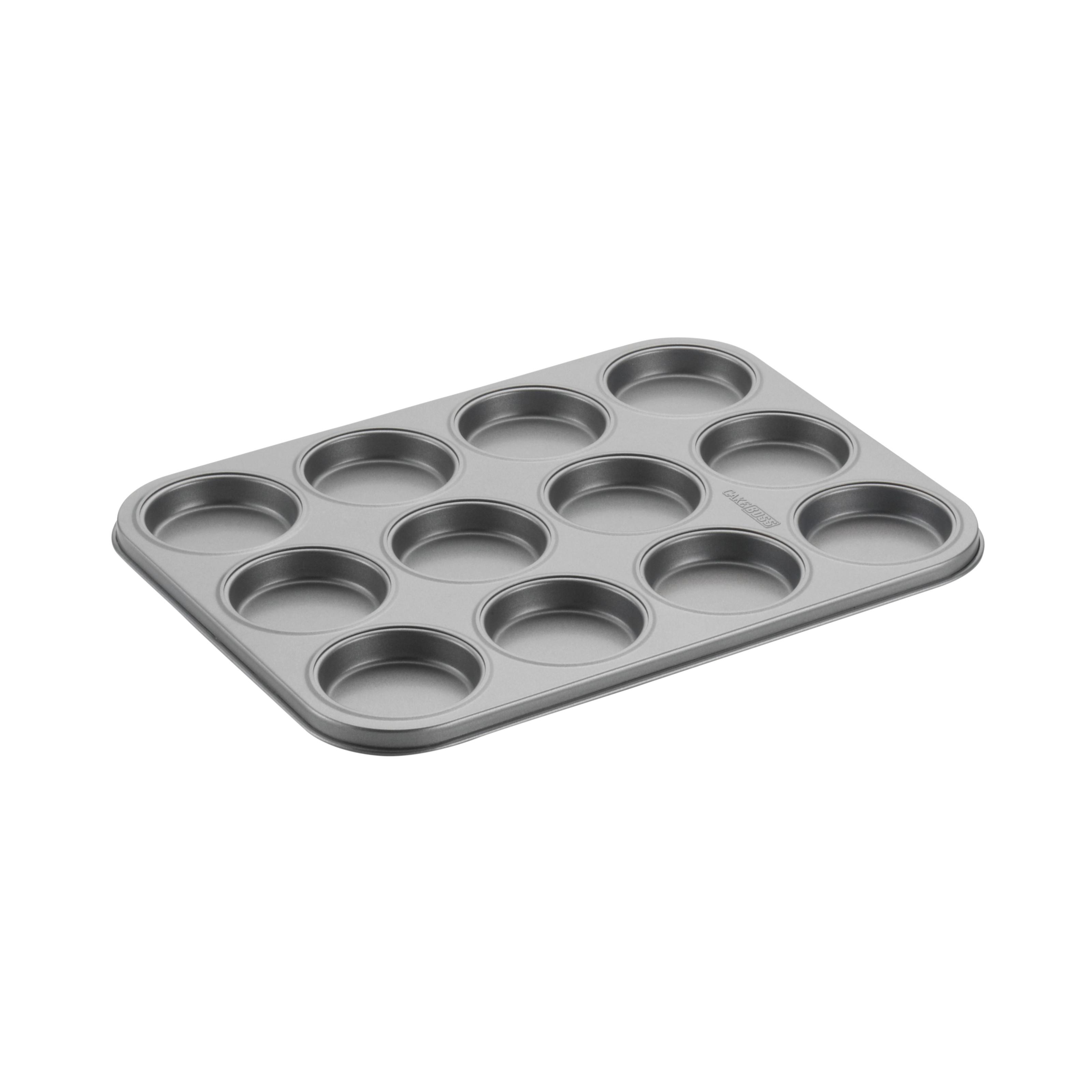 Cake Boss Novelty Nonstick Bakeware 12-Cup Whoopie Pie Pan, Gray